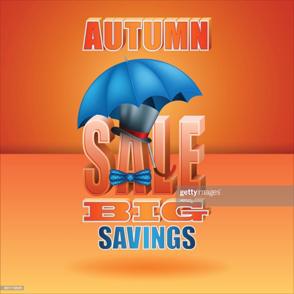 Seasonal sales of autumn