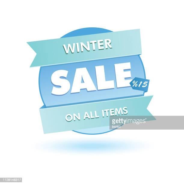 seasonal sales sticker. - store sign stock illustrations