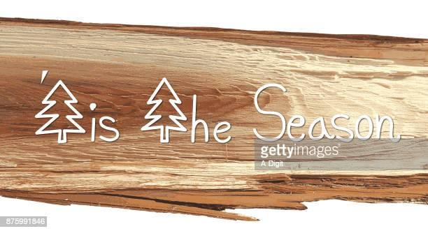 seasonal sliced wood pattern greeting - tree bark stock illustrations, clip art, cartoons, & icons