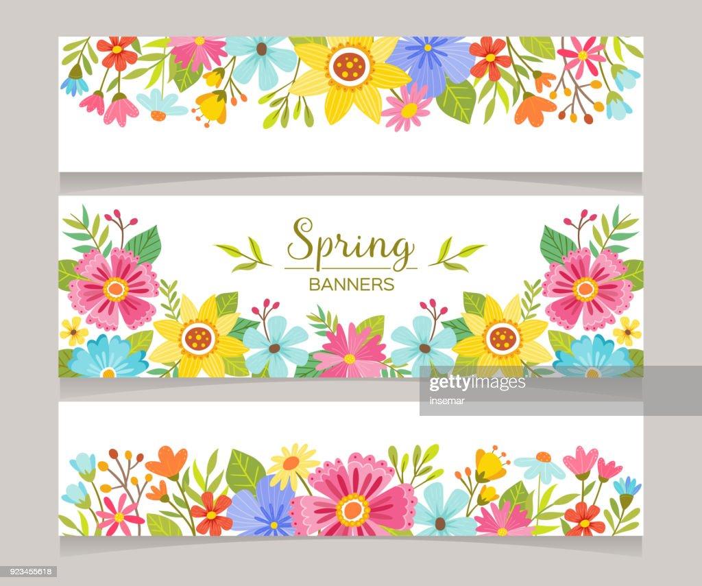 Seasonal Spring Decorative Banners
