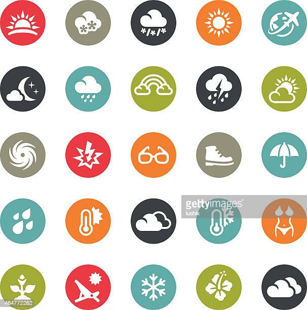 Seasons and Weather icons / Ringico series