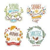Seasons Floral Badges