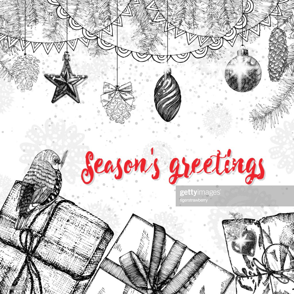 Seasons greetings text design handdrawn typography for banner seasons greetings text design handdrawn typography for banner greeting card gifts m4hsunfo