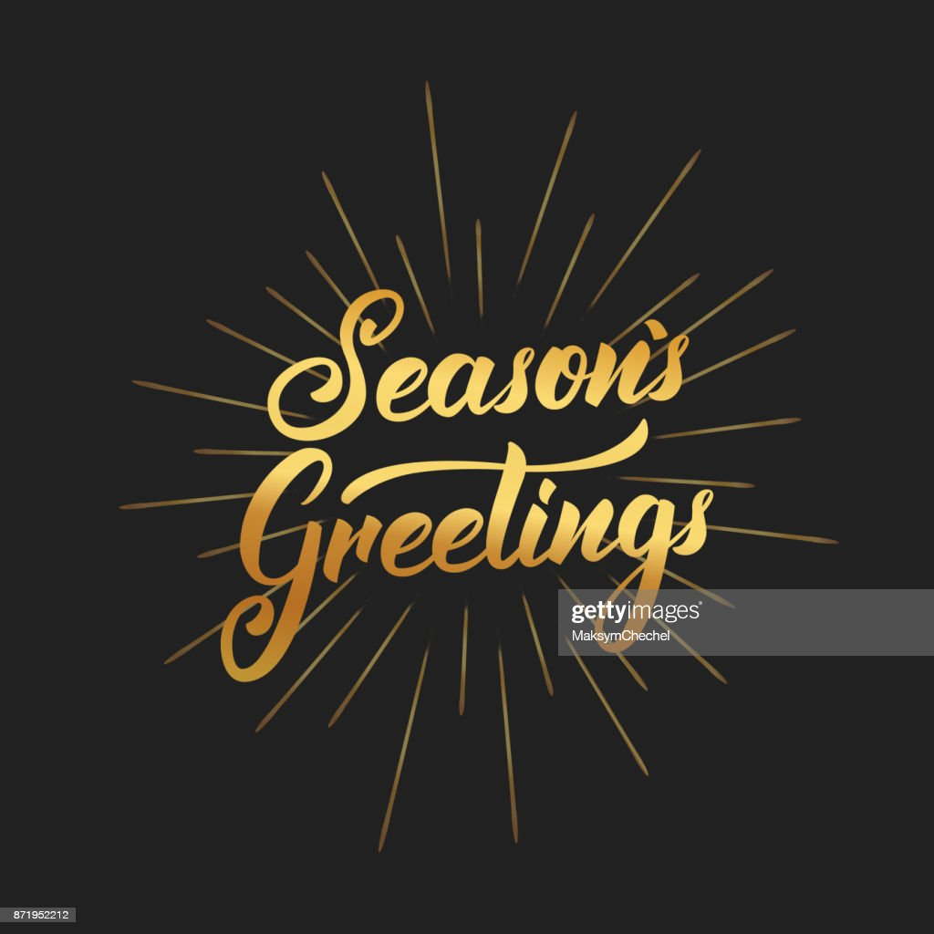 Seasons greetings text lettering design christmas and new year seasons greetings text lettering design christmas and new year greeting typography of gold gradient and m4hsunfo
