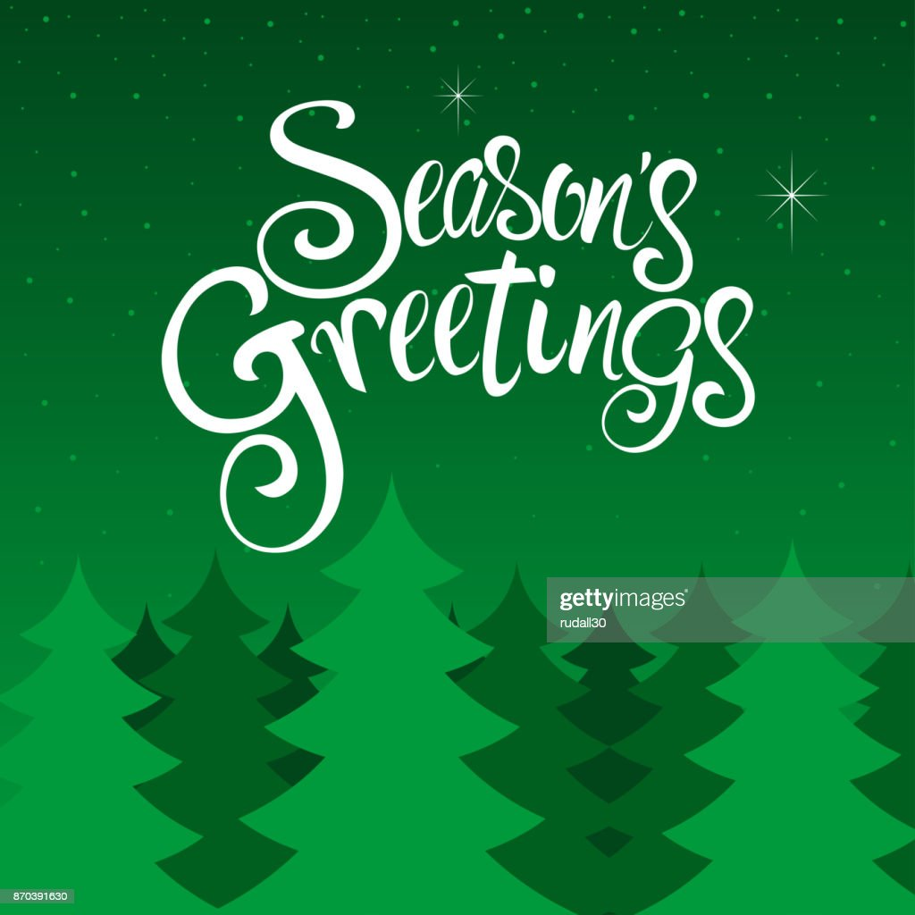 Seasons greetings text vector art getty images seasons greetings text vector art kristyandbryce Images