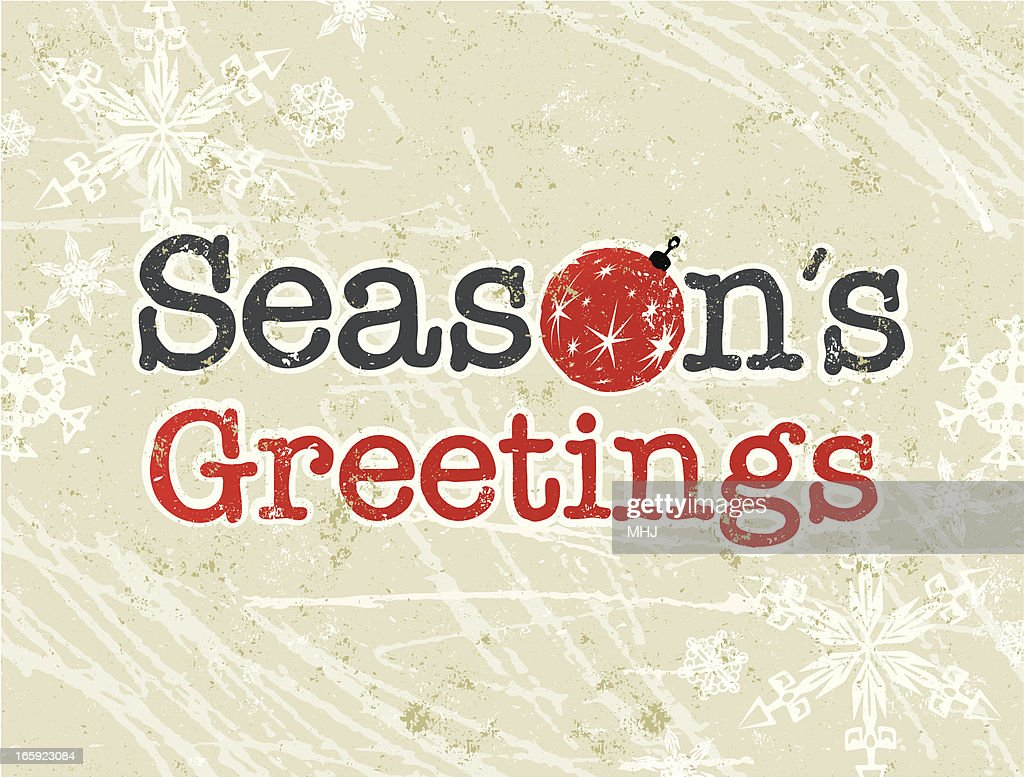Seasons greetings text with bauble vector art getty images seasons greetings text with bauble vector art kristyandbryce Images