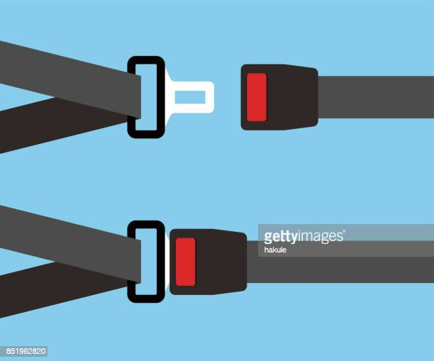 seat belts flat icon, simple vector illustration