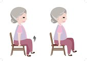 Seated March posture exercise
