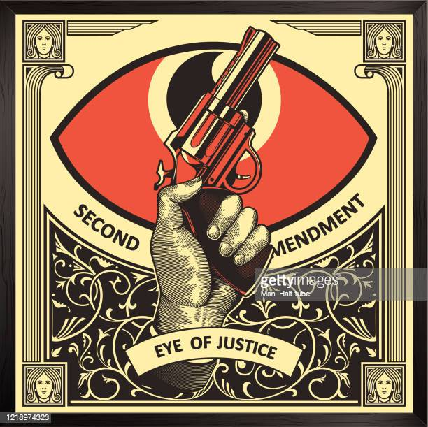 second amendment illustration - number 2 stock illustrations