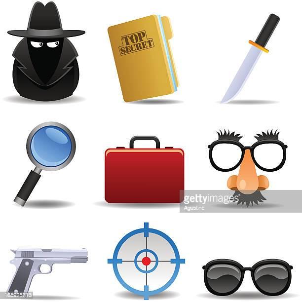 ilustraciones, imágenes clip art, dibujos animados e iconos de stock de agente secreto de - detective