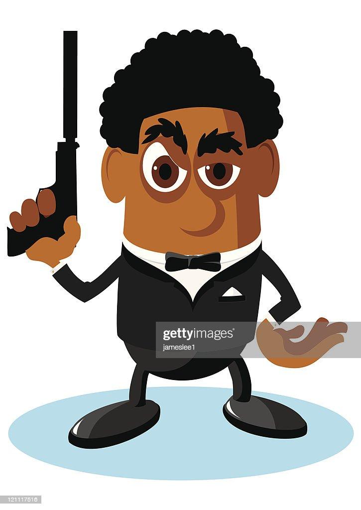 Secret Agent : stock illustration