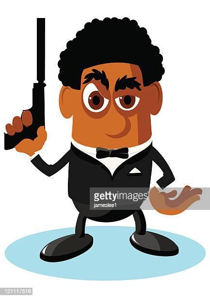 secret agent - full suit stock-grafiken, -clipart, -cartoons und -symbole