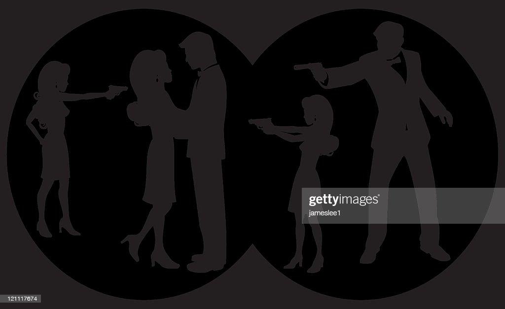 Secret Agents : stock illustration