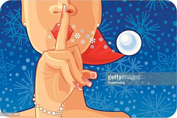 illustrations, cliparts, dessins animés et icônes de secret santa (bleu - devant