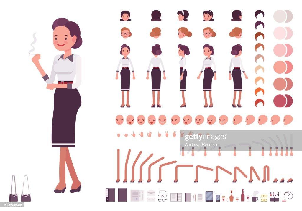Secretary character creation set