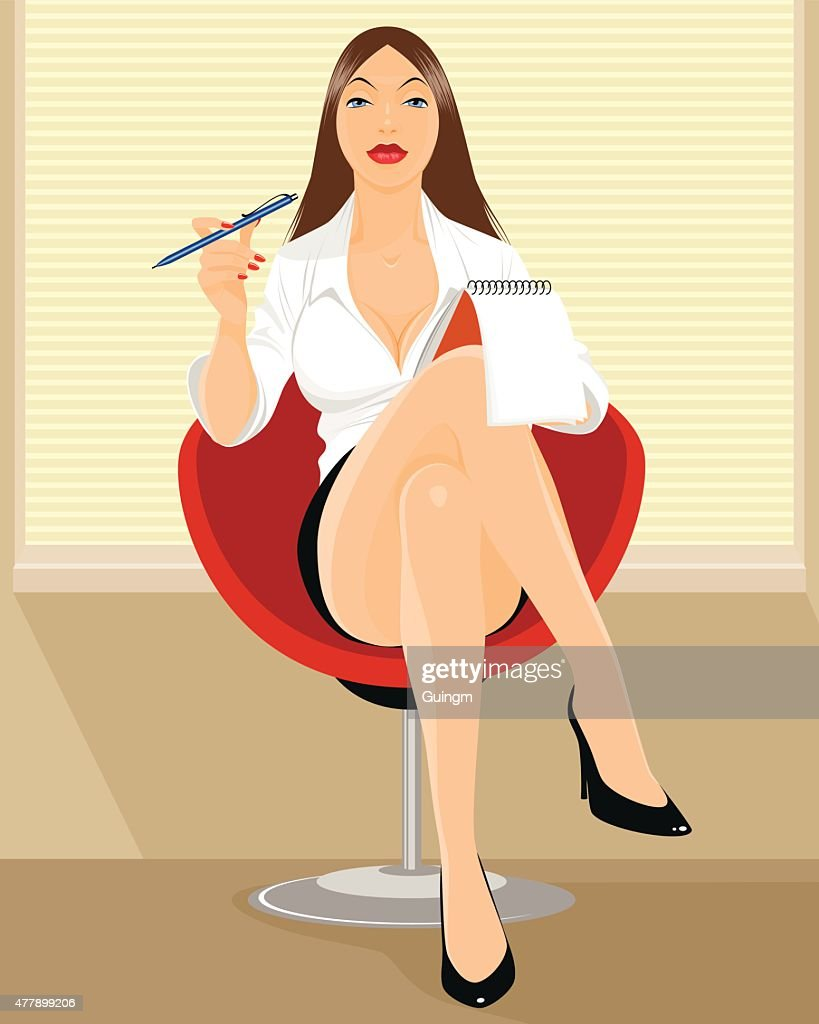 Secretary sitting in office
