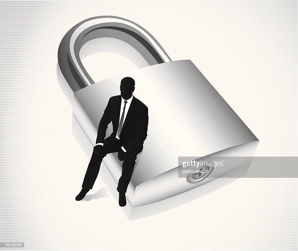 Secure Business : stock illustration