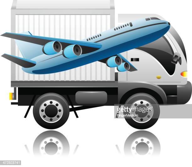 illustrations, cliparts, dessins animés et icônes de delivey sécurisé - chauffeur routier