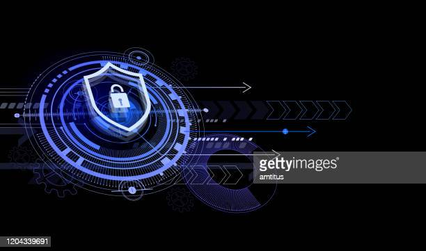secure hud - computer bug stock illustrations