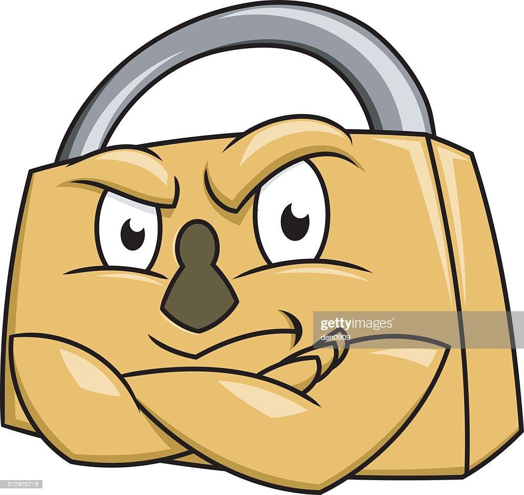 Secure padlock illustration 2