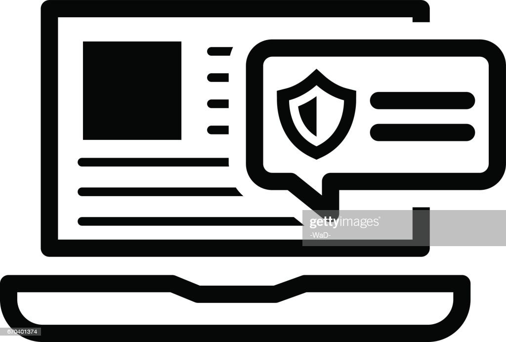 Security Alert Icon. Flat Design