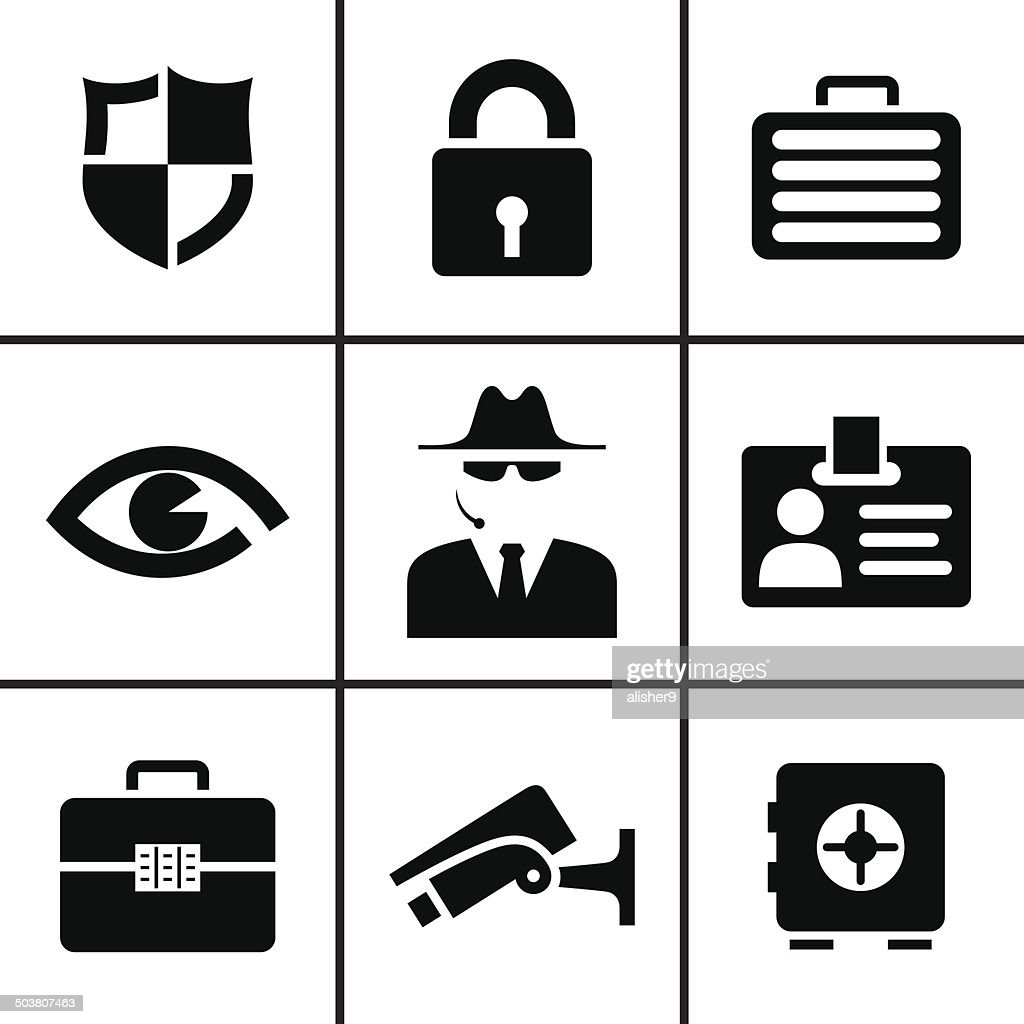 Security and safey icons set