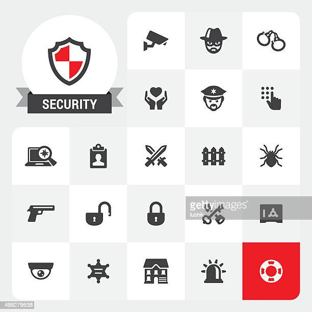 Security base vector icons and label