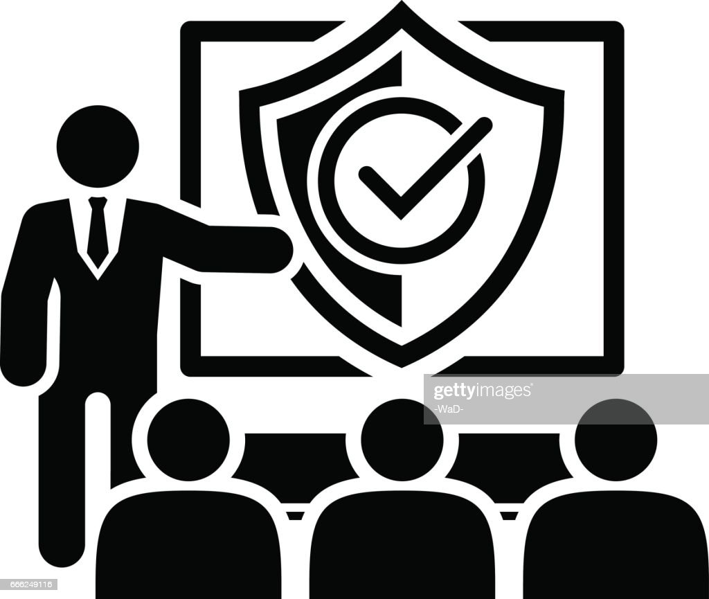 Security Briefing Icon. Business Concept