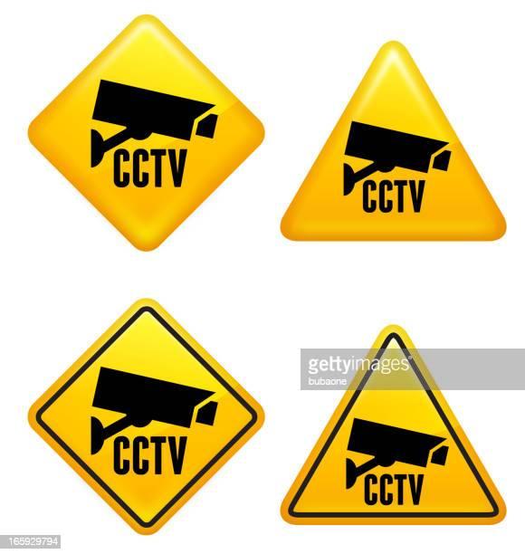 Security Camera CCTV Street Sign