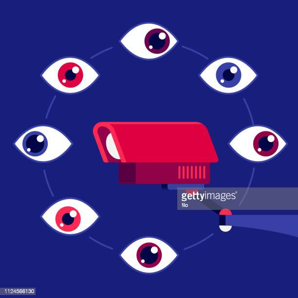 security camera spying watching - security camera stock illustrations