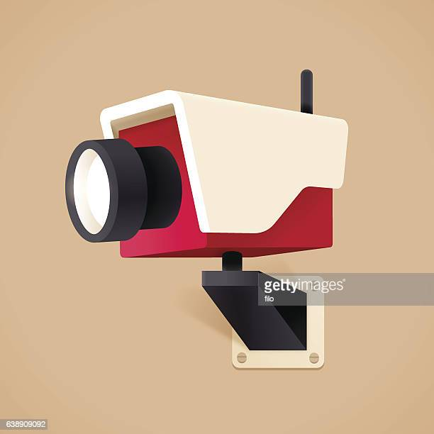 security camera surveillance - security camera stock illustrations