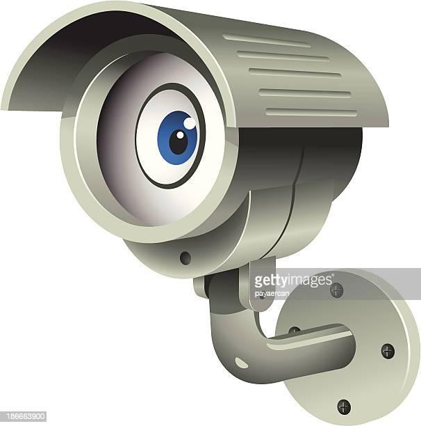 security camera - big brother orwellian concept stock illustrations, clip art, cartoons, & icons