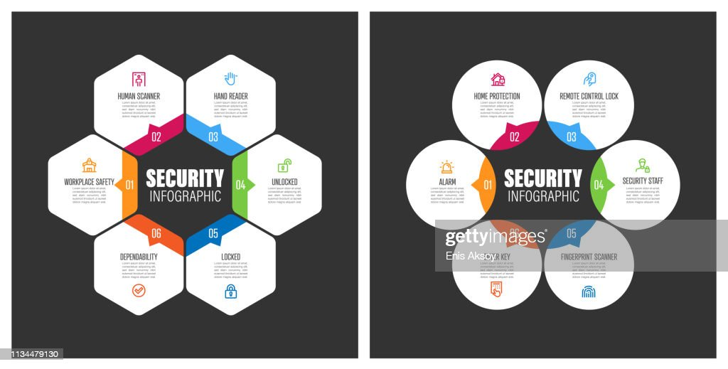 Security Chart with Keywords : stock illustration