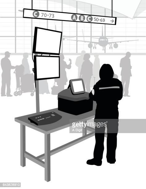 Security Check Stand