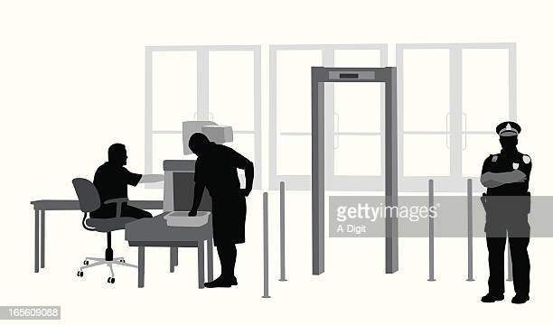 Security Check Vector Silhouette