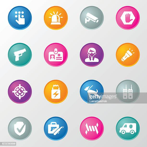 Security Circle Color Icons
