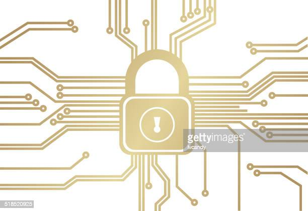 security circuit - cyborg stock illustrations, clip art, cartoons, & icons