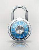 Security Concept with Combination Padlock