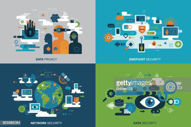 it security concepts - personal information stock illustrations, clip art, cartoons, & icons