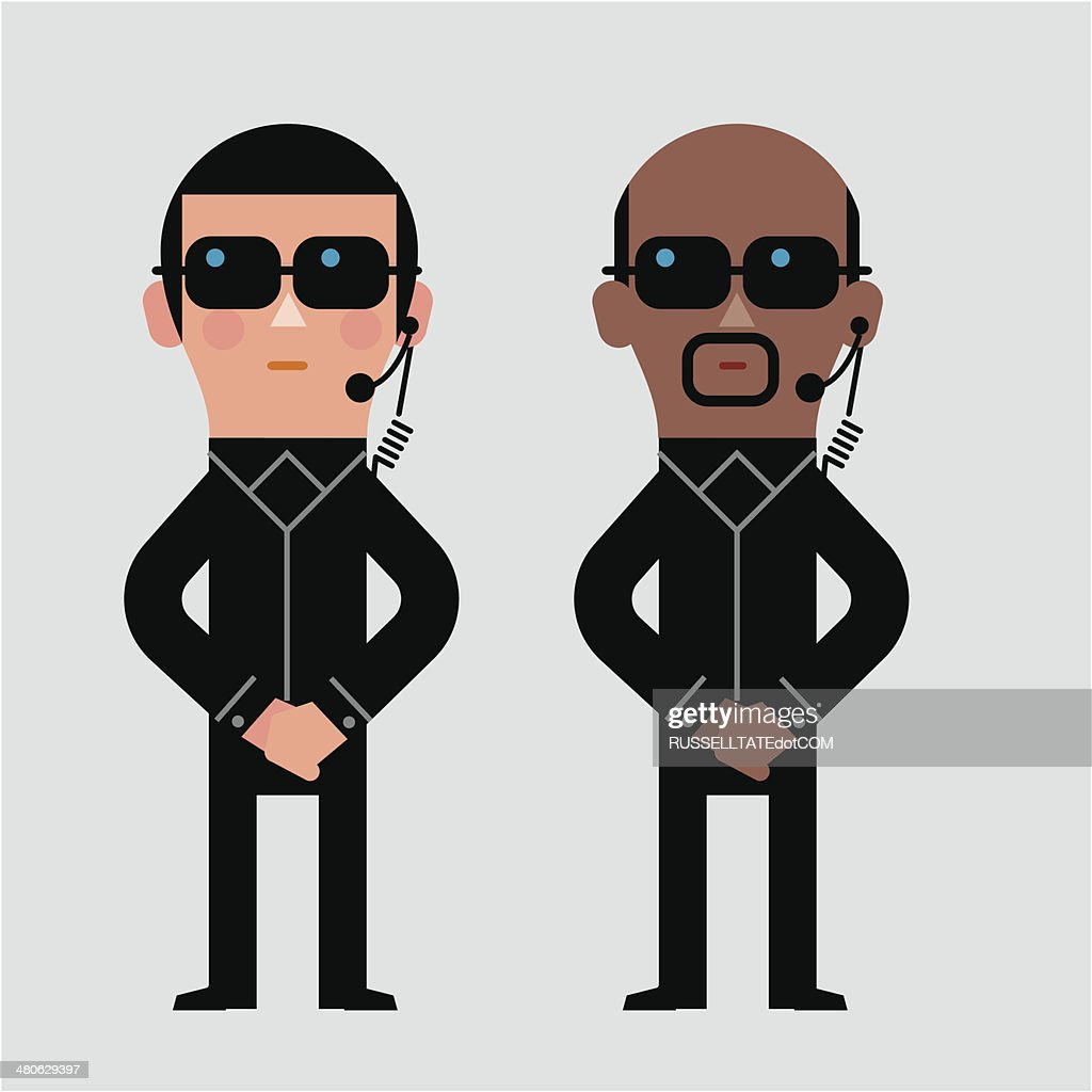 Security detail : stock illustration