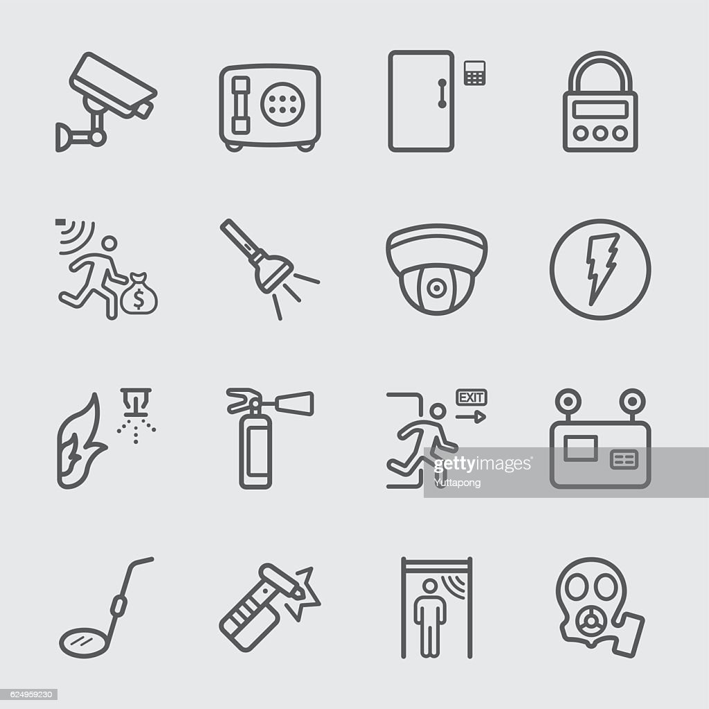 Security equipment line icon