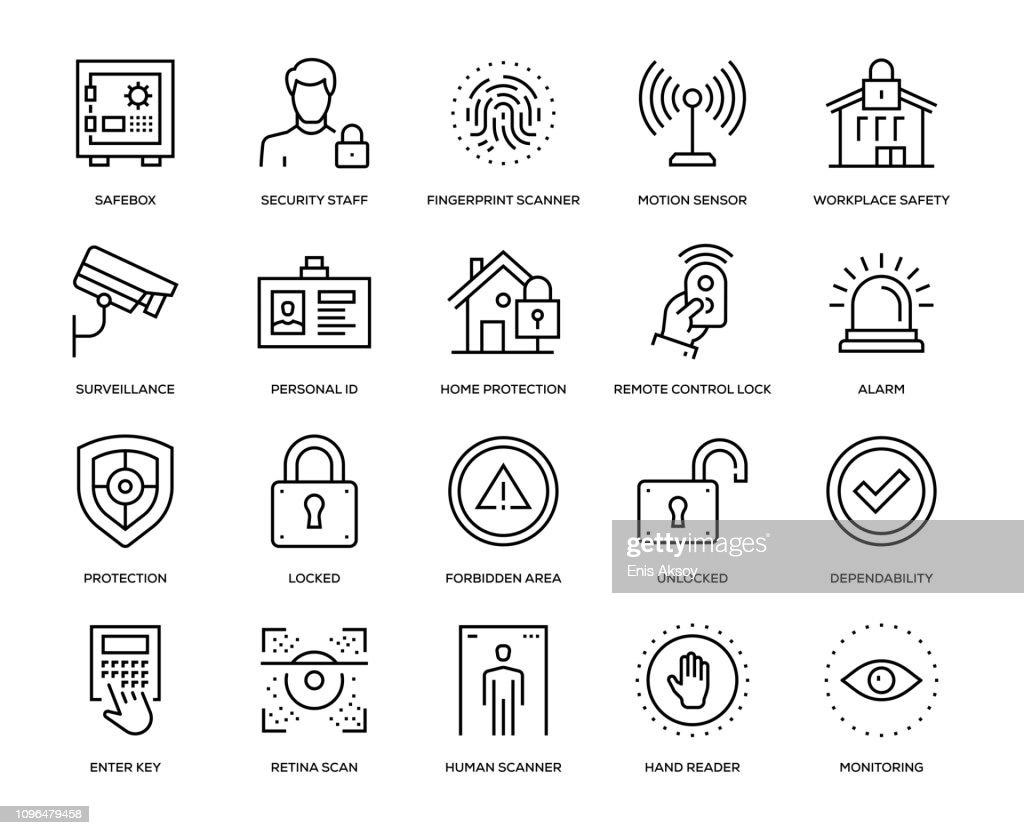 Security Icon Set : stock illustration