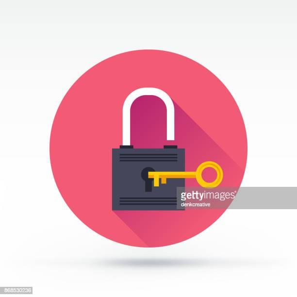 security icon - padlock stock illustrations