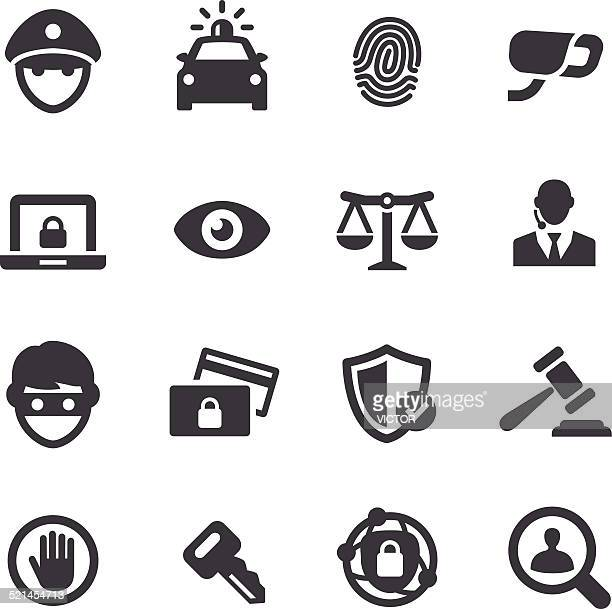 security icons - acme series - security camera stock illustrations