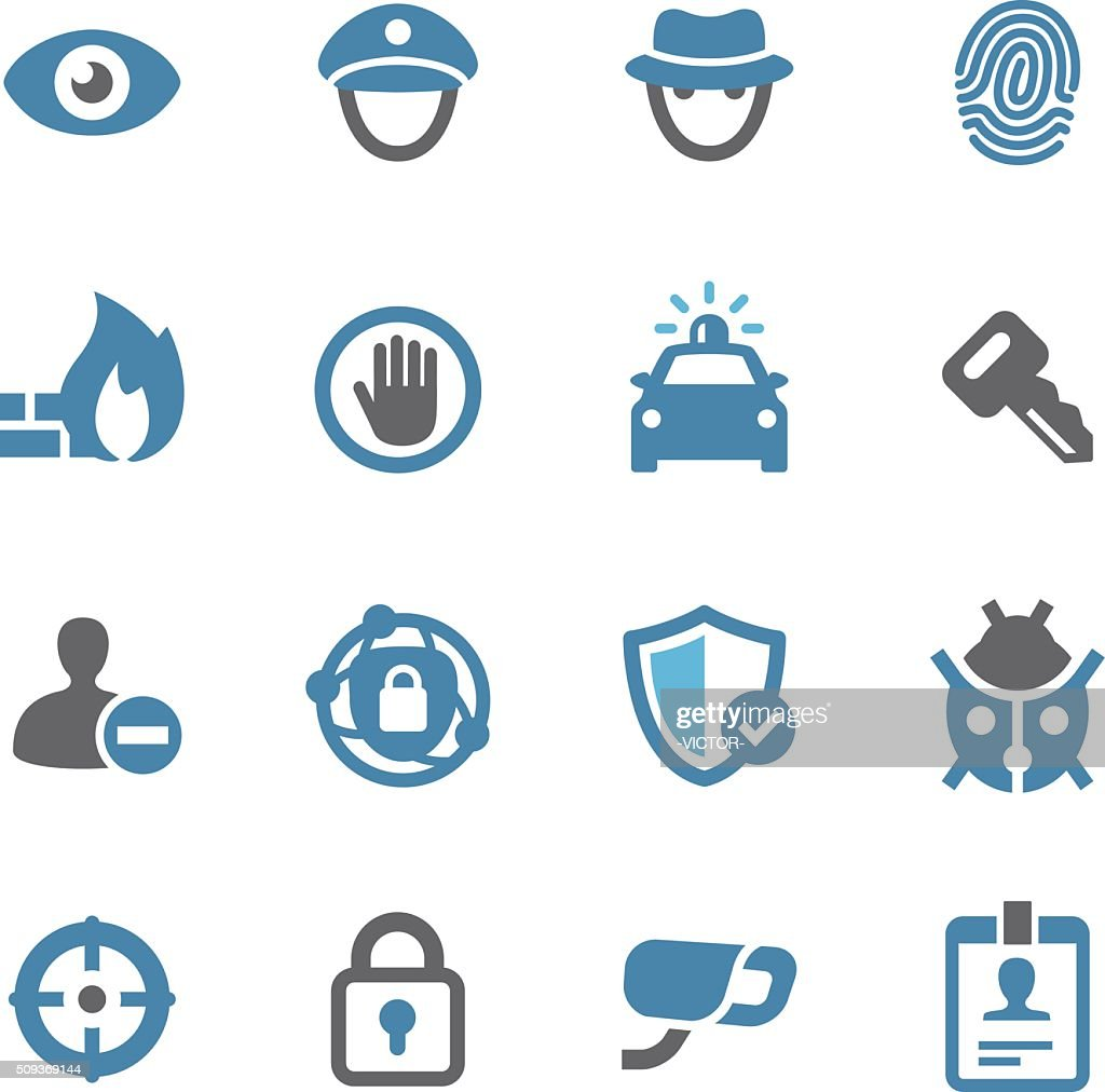 Security Icons - Conc Series : Stock Illustration
