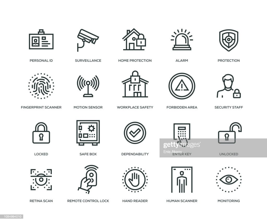 Security Icons - Line Series : stock illustration