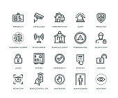 security icons line series