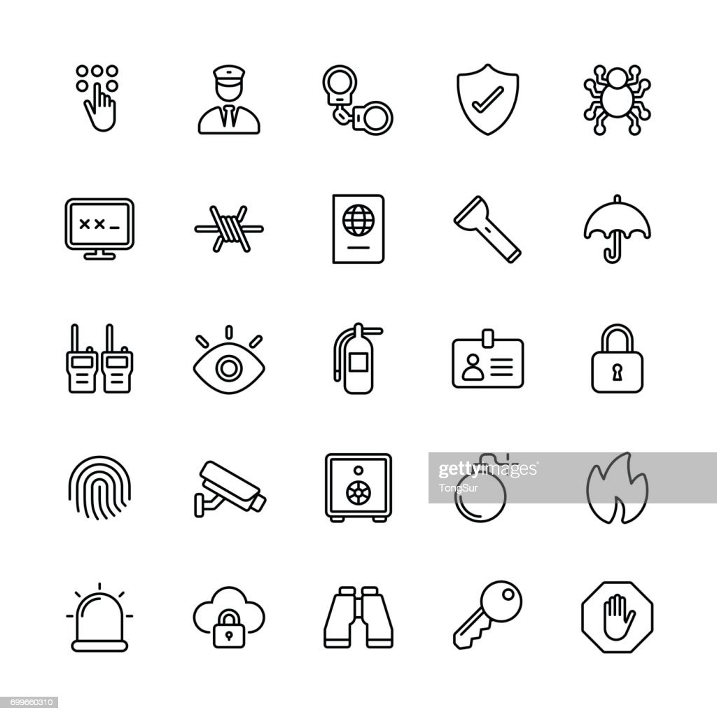 Security icons - Regular Line