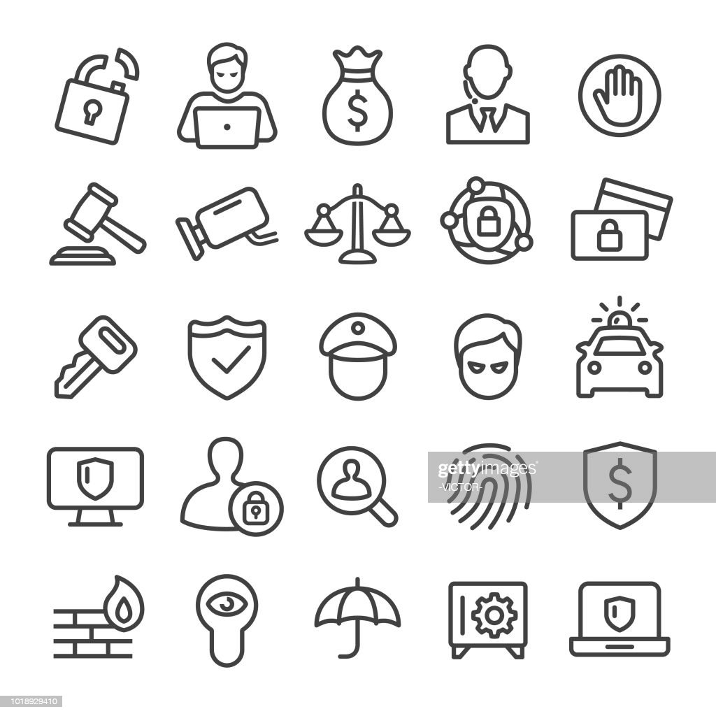 Security Icons Set - Smart Line Series : Stock Illustration