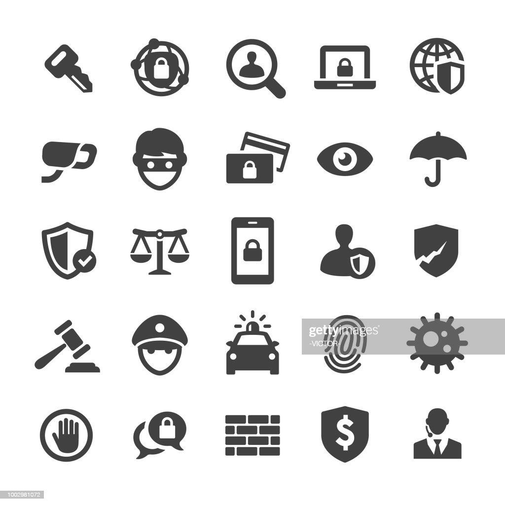 セキュリティのアイコンを設定 - スマート シリーズ : ストックイラストレーション